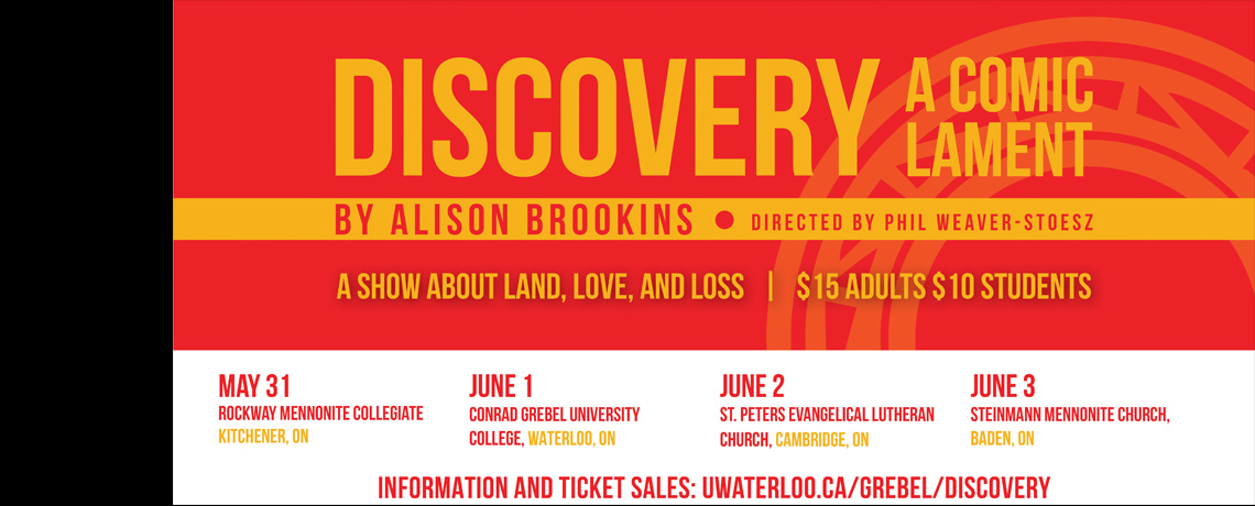 Discovery: A Comic Lament May 31-June 3